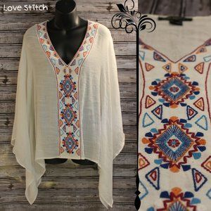 Embroidered Tunic Top by Love Stitch
